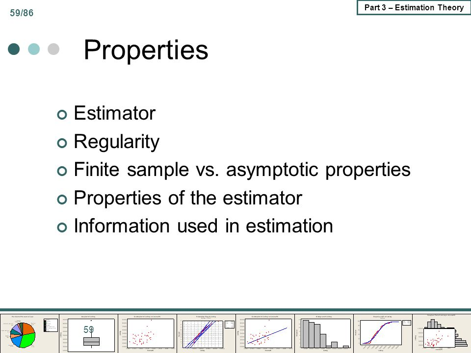Properties Estimator Regularity