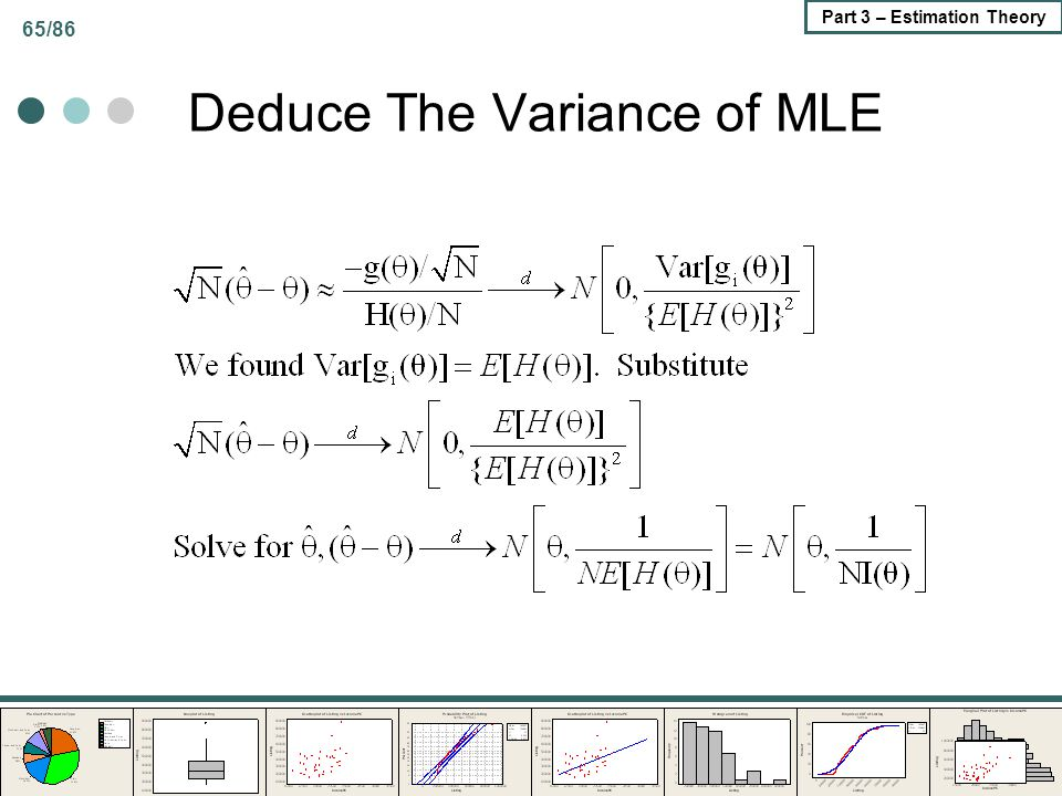 Deduce The Variance of MLE