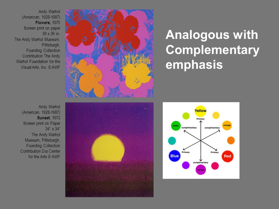 Analogous with Complementary emphasis