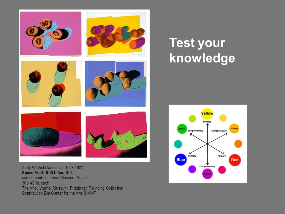 Test your knowledge Andy Warhol (American, 1928-1987)