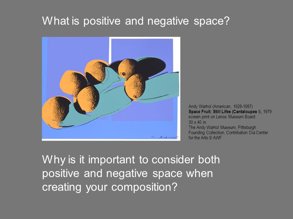 What is positive and negative space