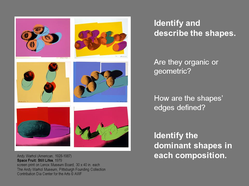 Identify and describe the shapes.