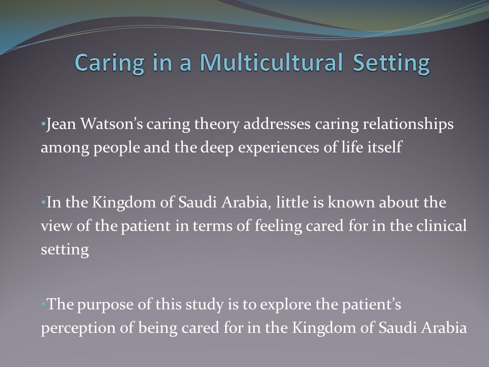 Caring in a Multicultural Setting