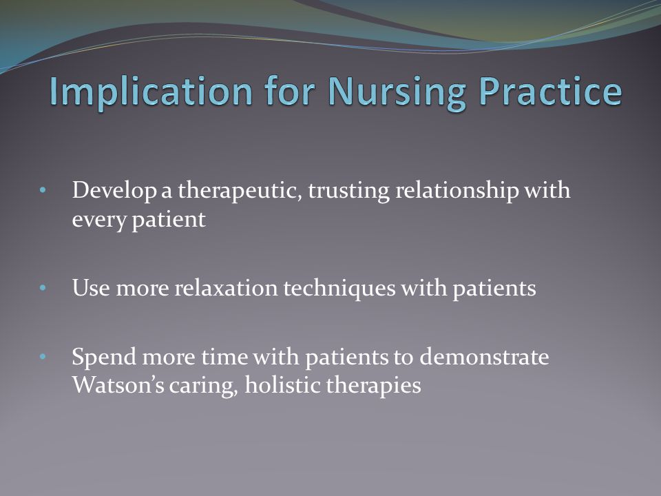 Implication for Nursing Practice