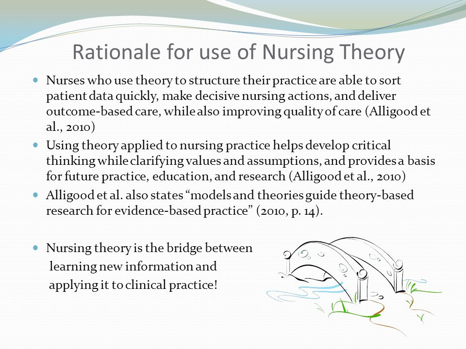 Rationale for use of Nursing Theory