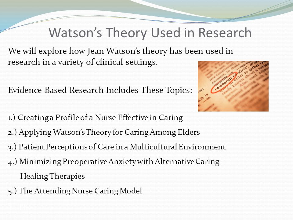 Watson's Theory Used in Research