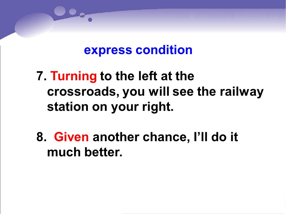 express condition 7. Turning to the left at the crossroads, you will see the railway station on your right.