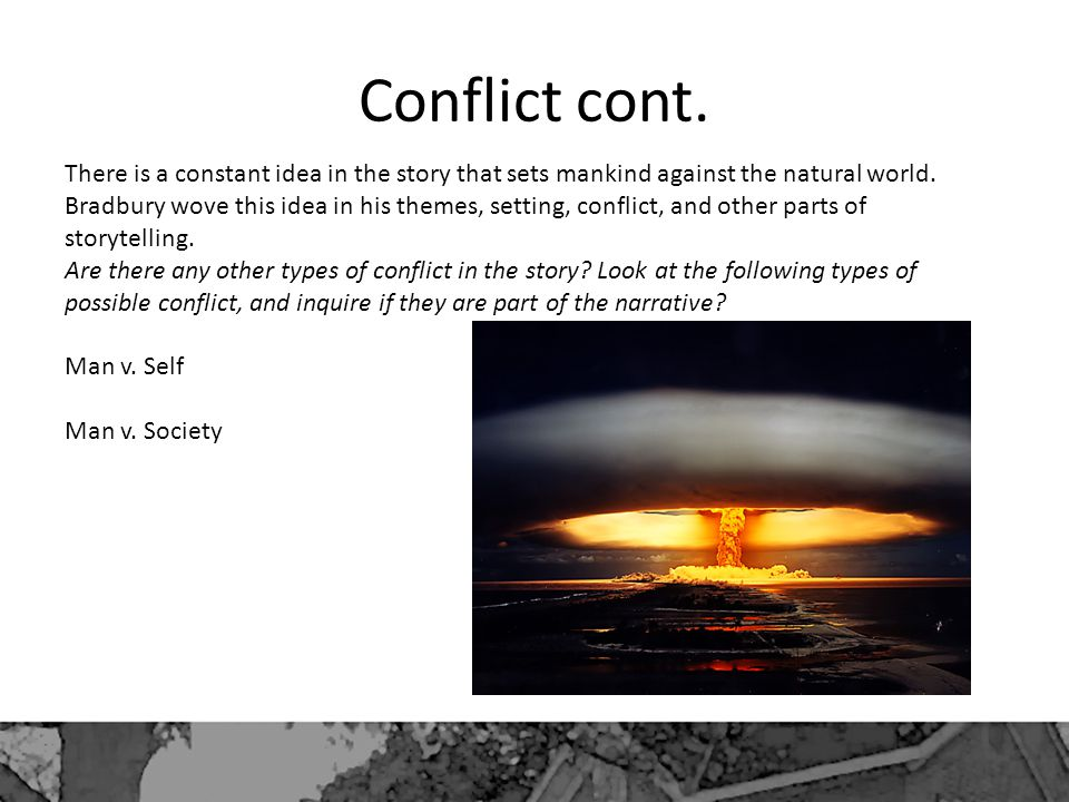 Conflict cont.