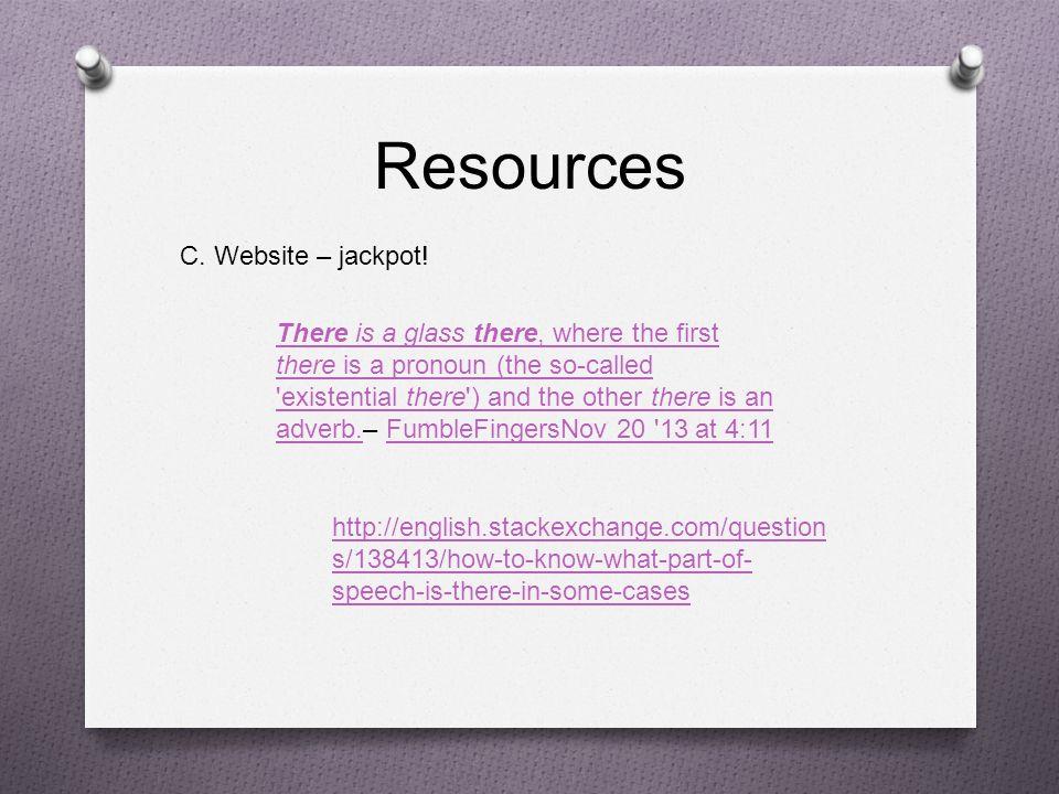 Resources C. Website – jackpot!