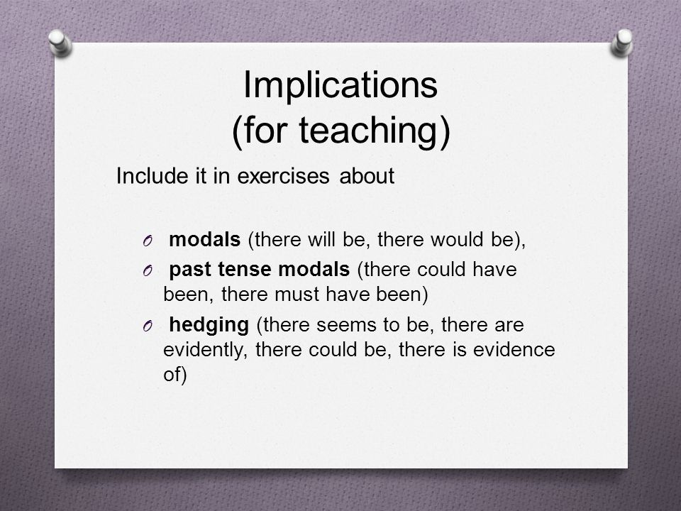 Implications (for teaching)