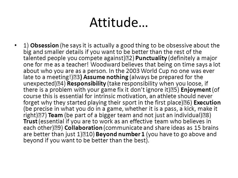 Attitude…