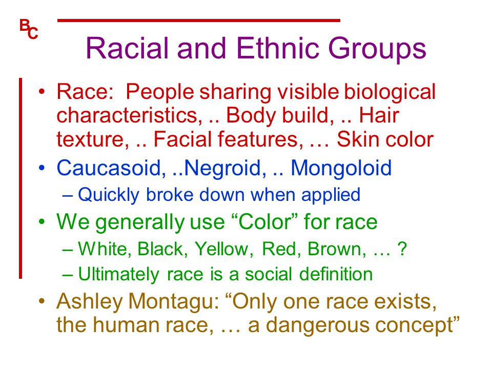 Racial and Ethnic Groups