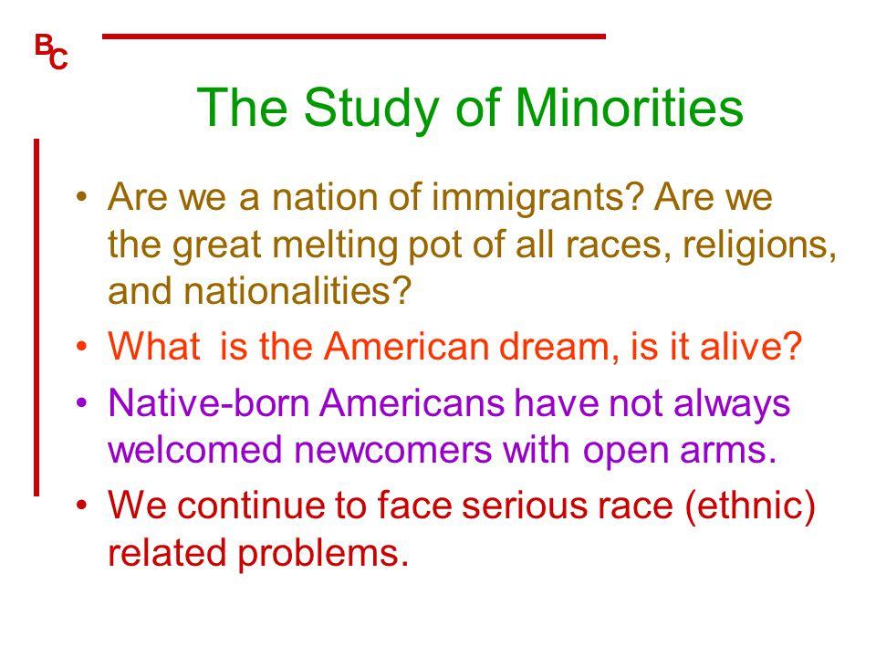 The Study of Minorities