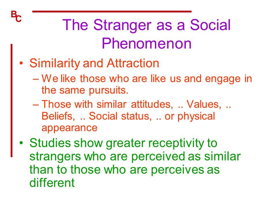 The Stranger as a Social Phenomenon