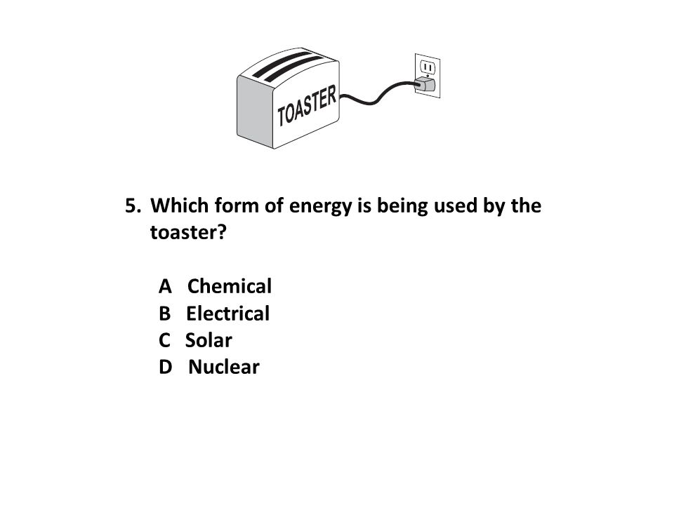 Which form of energy is being used by the toaster