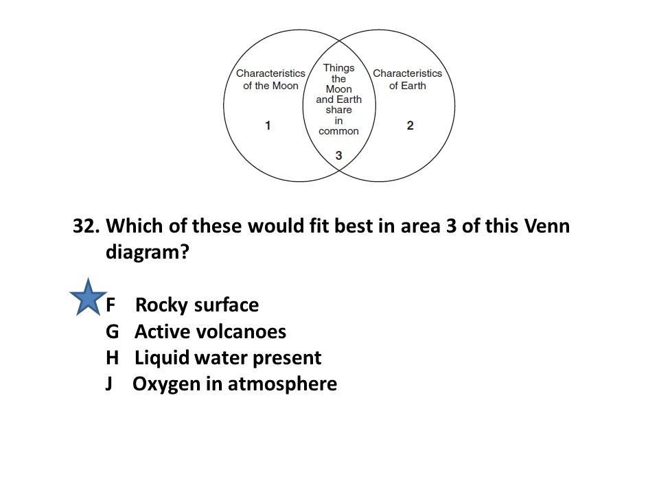 Which of these would fit best in area 3 of this Venn diagram