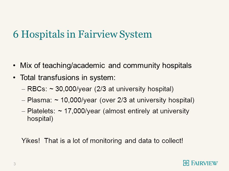 6 Hospitals in Fairview System