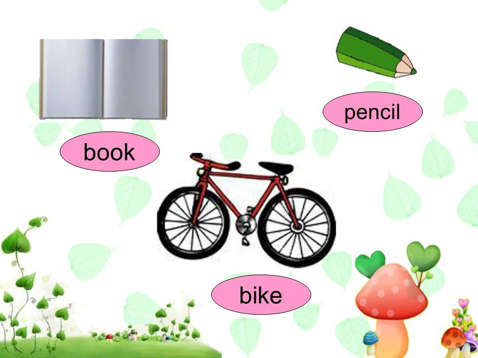pencil book bike