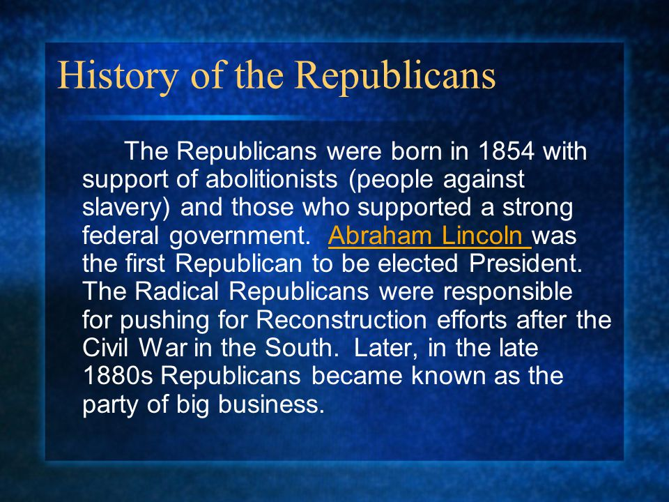 History of the Republicans