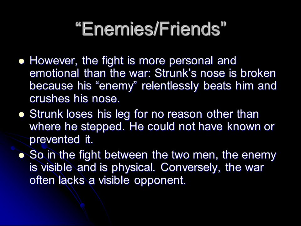 Enemies/Friends