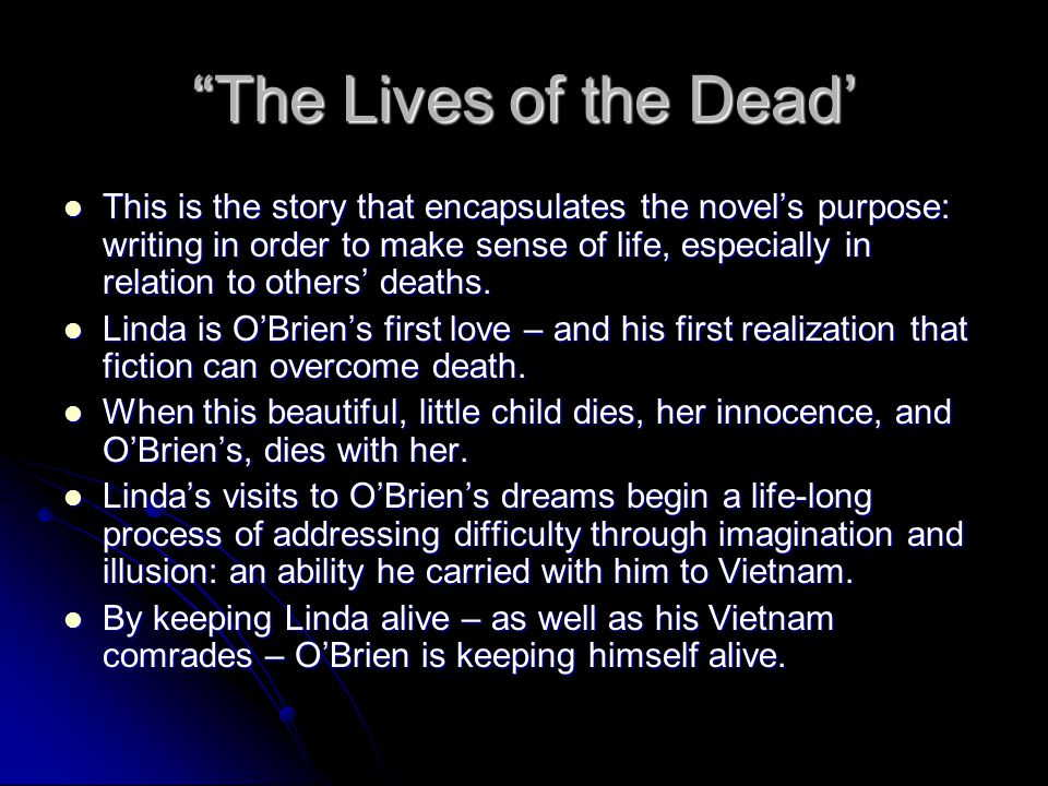 The Lives of the Dead'