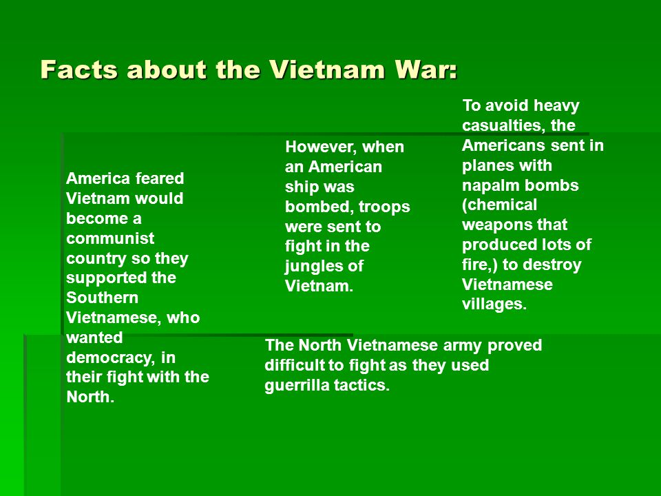 Facts about the Vietnam War: