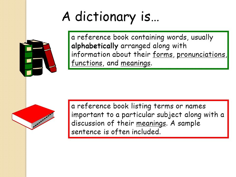 A dictionary is…