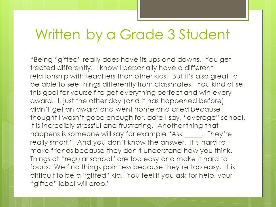 Written by a Grade 3 Student