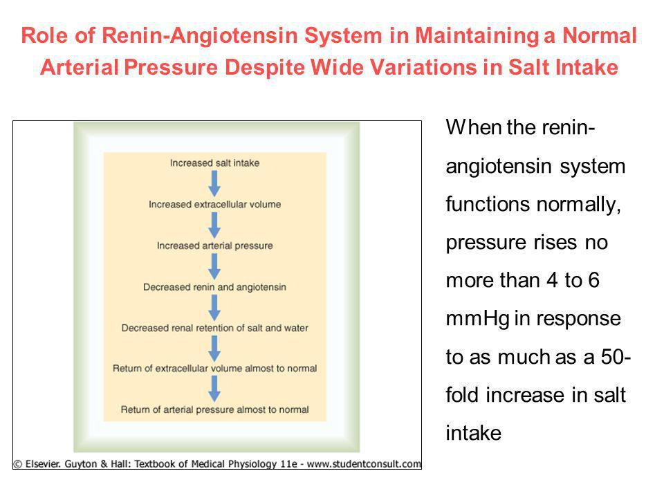 Role of Renin-Angiotensin System in Maintaining a Normal Arterial Pressure Despite Wide Variations in Salt Intake