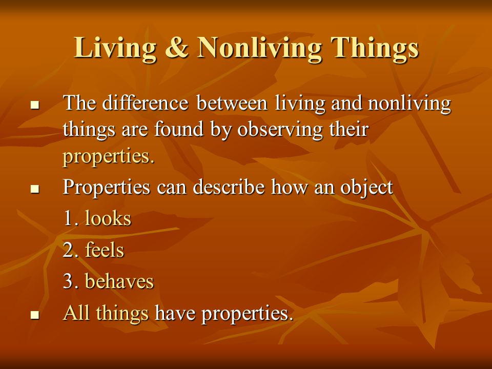 Living & Nonliving Things