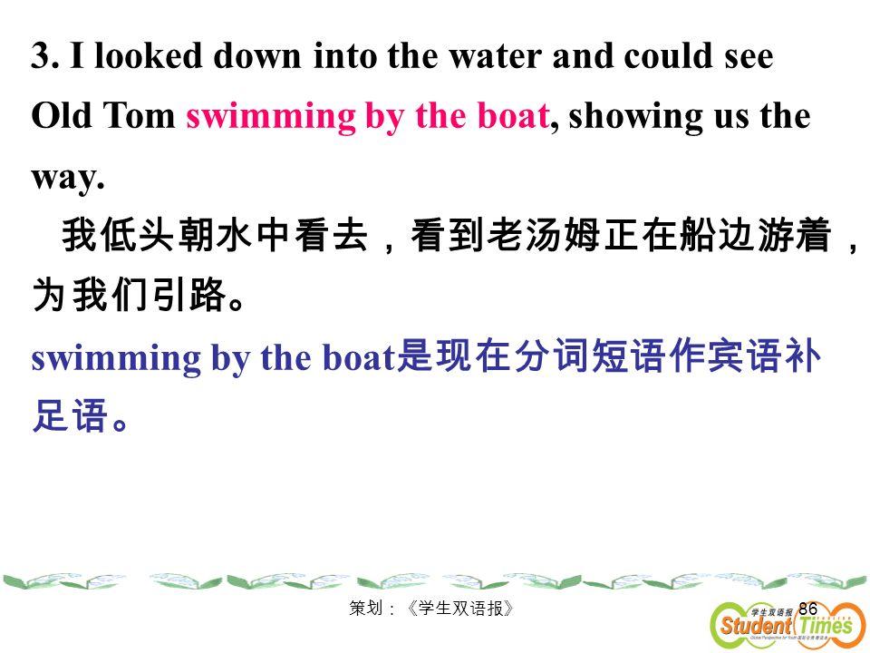 我低头朝水中看去,看到老汤姆正在船边游着,为我们引路。