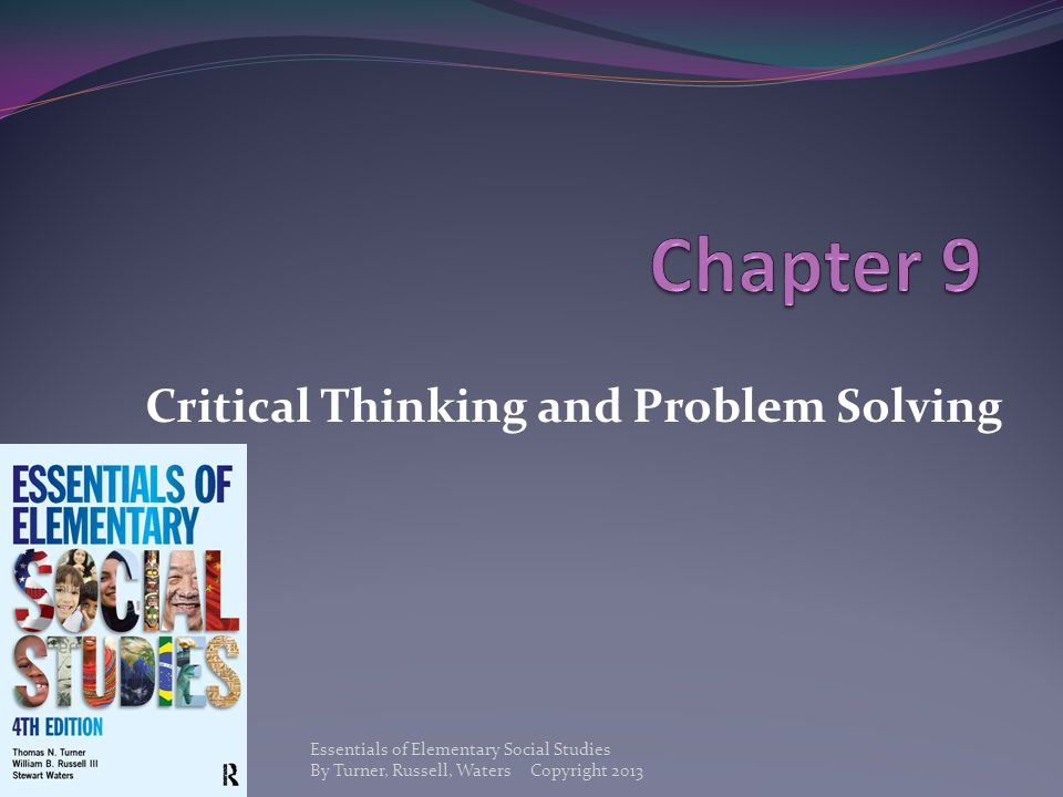 Critical Thinking and Problem Solving