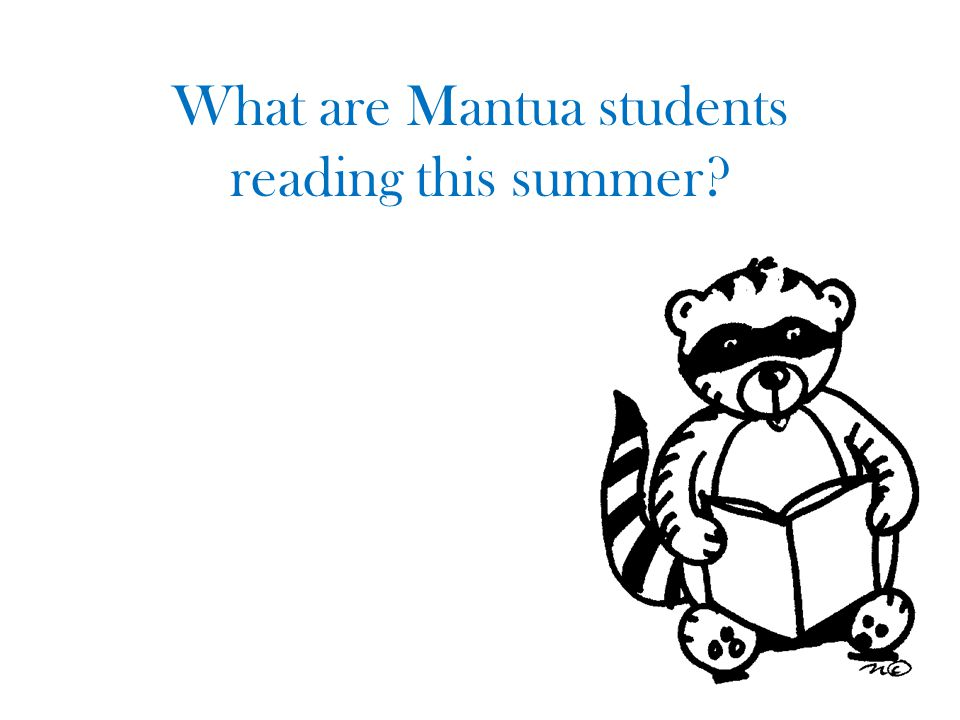 What are Mantua students reading this summer