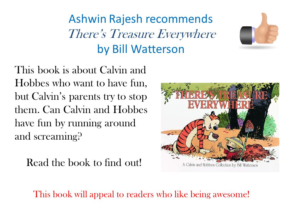 Ashwin Rajesh recommends There's Treasure Everywhere by Bill Watterson