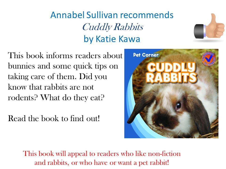 Annabel Sullivan recommends Cuddly Rabbits by Katie Kawa