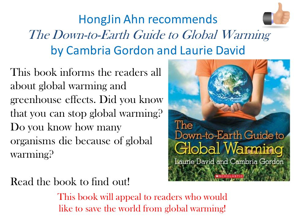 HongJin Ahn recommends The Down-to-Earth Guide to Global Warming