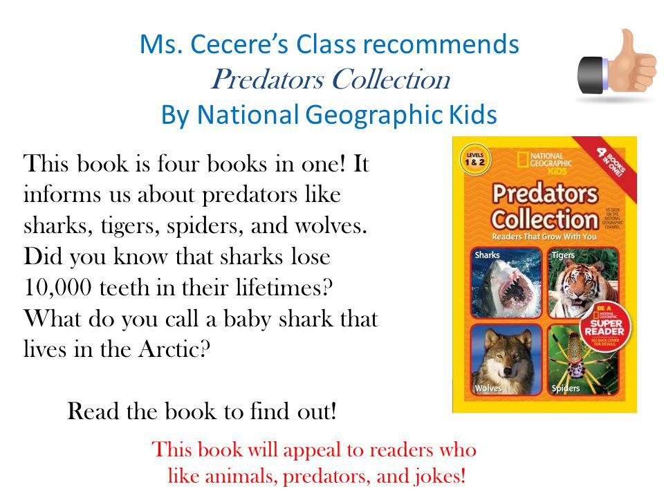 Ms. Cecere's Class recommends Predators Collection
