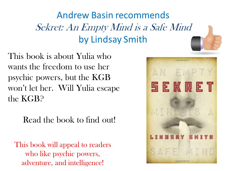 Andrew Basin recommends Sekret: An Empty Mind is a Safe Mind