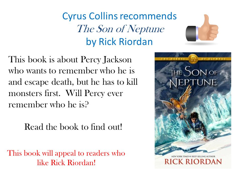 Cyrus Collins recommends The Son of Neptune by Rick Riordan