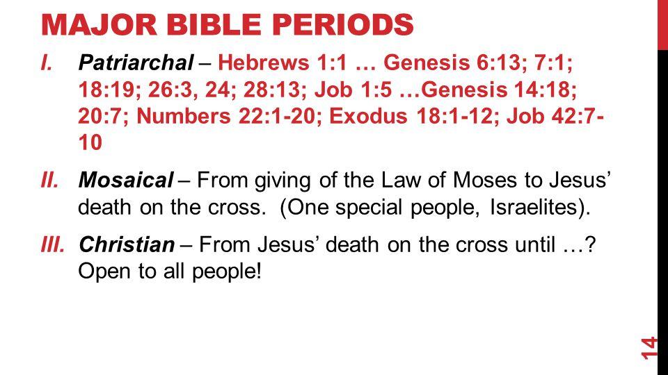 Major Bible Periods