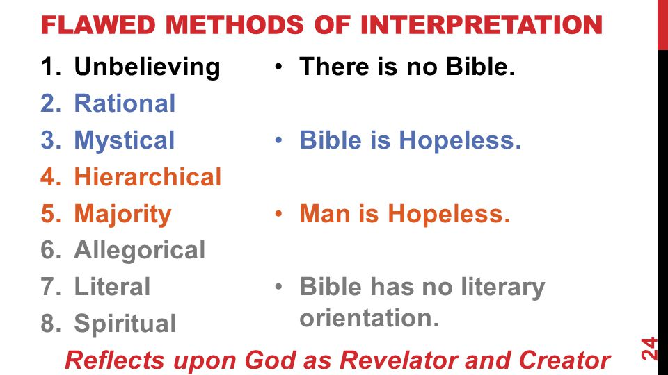 FLAWED Methods of Interpretation