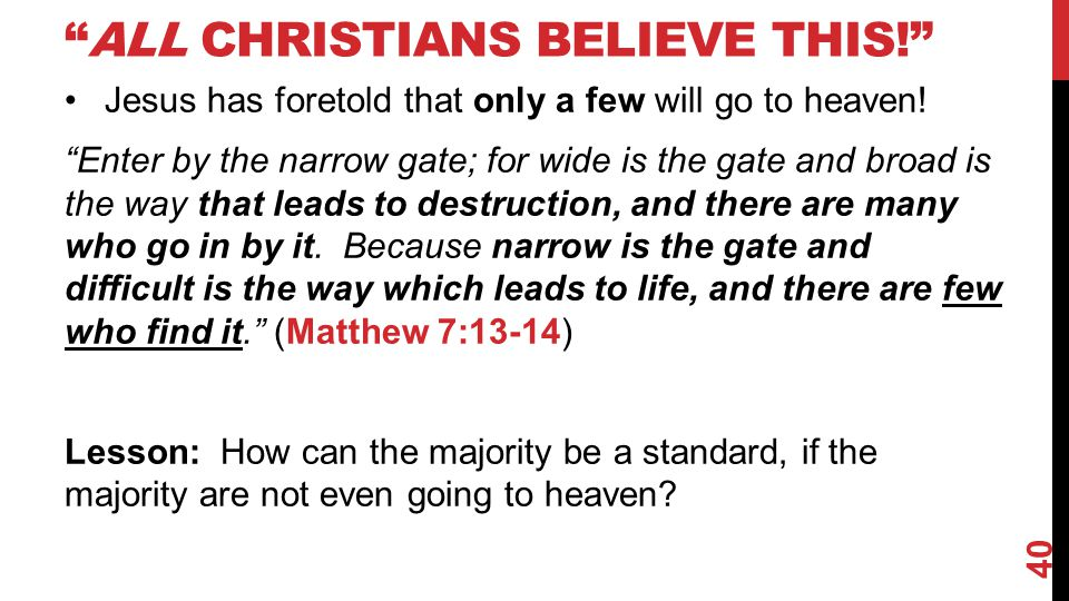 All Christians believe this!