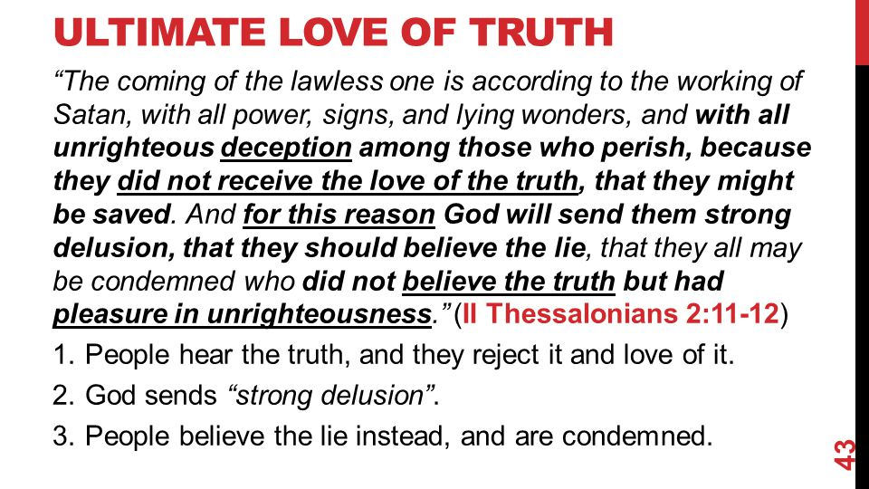 Ultimate Love of Truth
