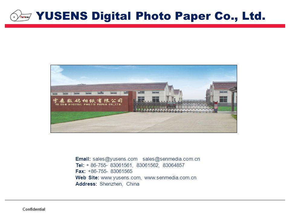 YUSENS Digital Photo Paper Co., Ltd.