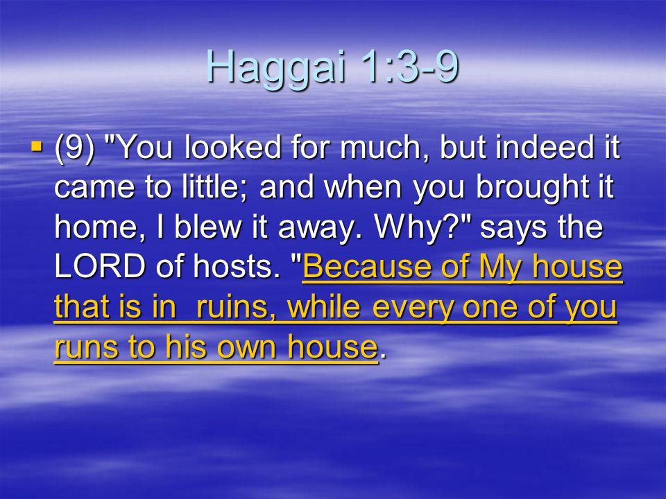 Haggai 1:3-9