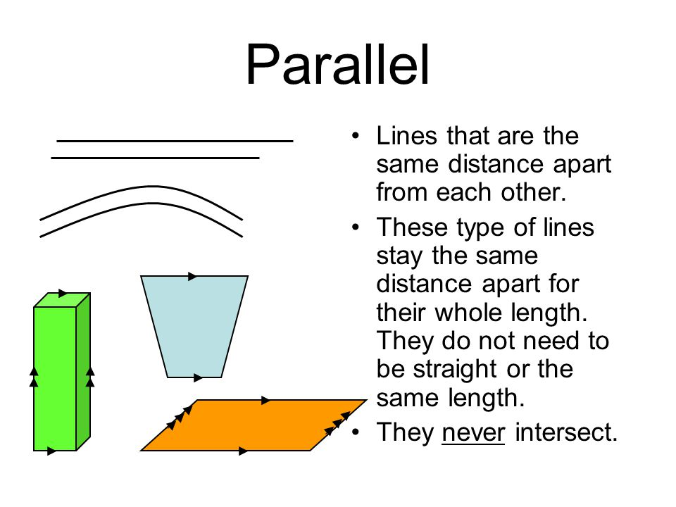 Parallel Lines that are the same distance apart from each other.