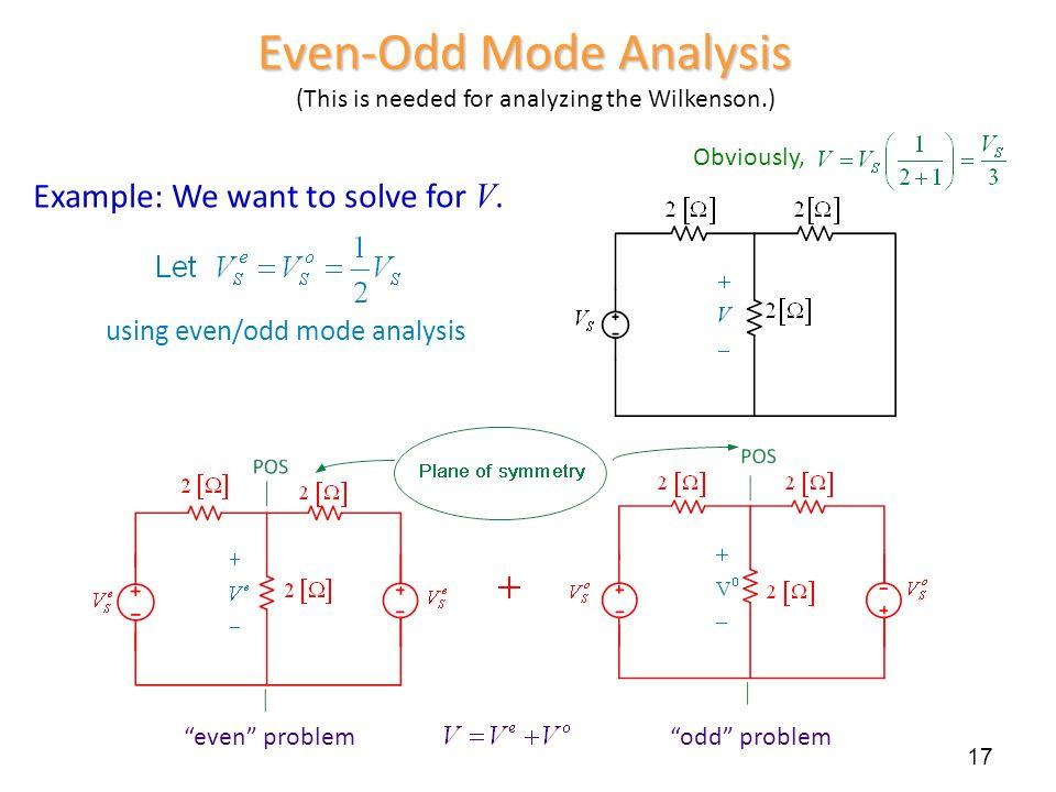 Even-Odd Mode Analysis