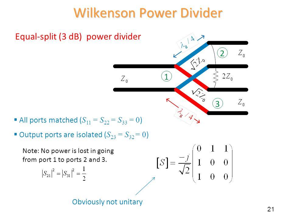 Wilkenson Power Divider