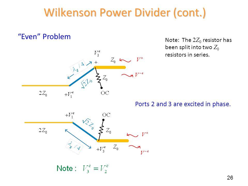 Wilkenson Power Divider (cont.)