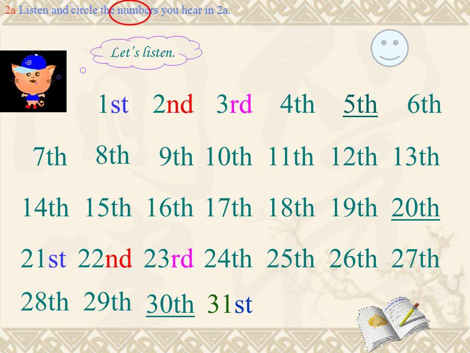 1st 2nd 3rd 4th 5th 6th 7th 8th 9th 10th 11th 12th 13th 14th 15th 16th